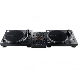 2 X PIONEER PLX500, PIONEER DJM-450 BUNDLE, INCLUDES REKORDBOX DJ & DVS