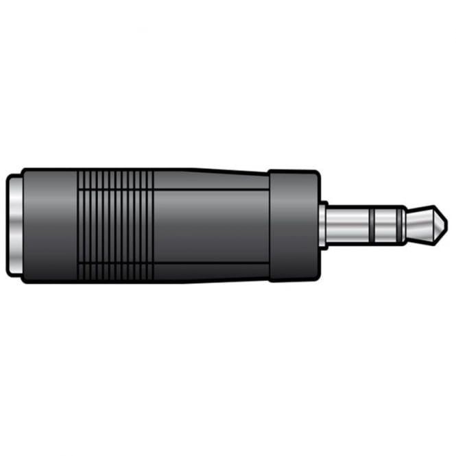 3.5mm STEREO JACK PLUG to 6.3mm STEREO JACK SOCKET