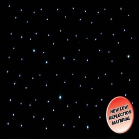 3 x 2m LED Starcloth System, Black Cloth, CW