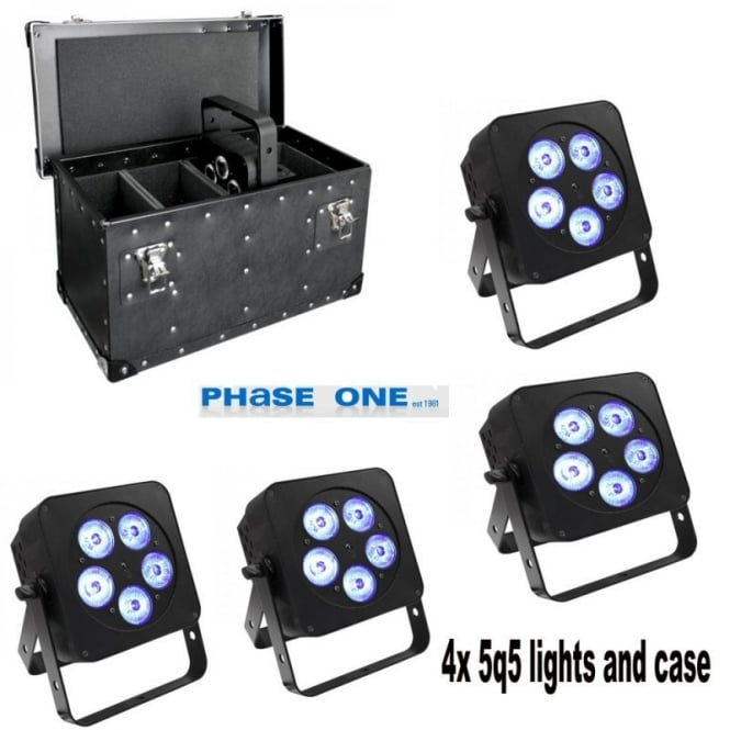 LEDJ 5Q5 LED uplighter with case package deal