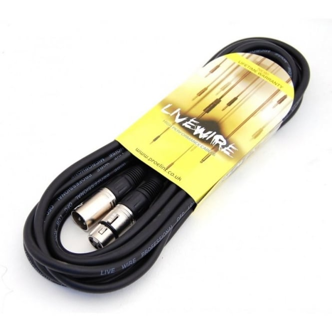 Livewire 6 metre XLR female to male XLR balanced audio cable