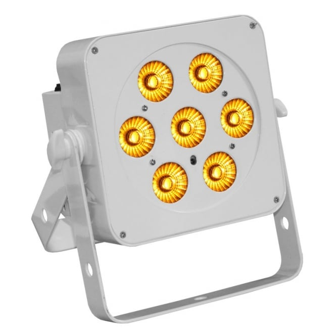 LEDJ 7Q5 Led Uplighter white housing 7 x 5watt RGBA led
