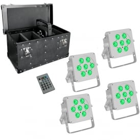 7Q5 LED uplighter white housing with case package deal