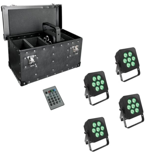 LEDJ 7Q5 LED uplighter with case package deal
