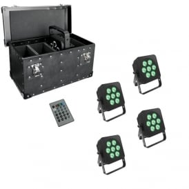 7Q5 LED uplighter with case package deal