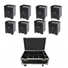 8x Rapid QB1 portable battery powered uplighters & Charge Case Bundle