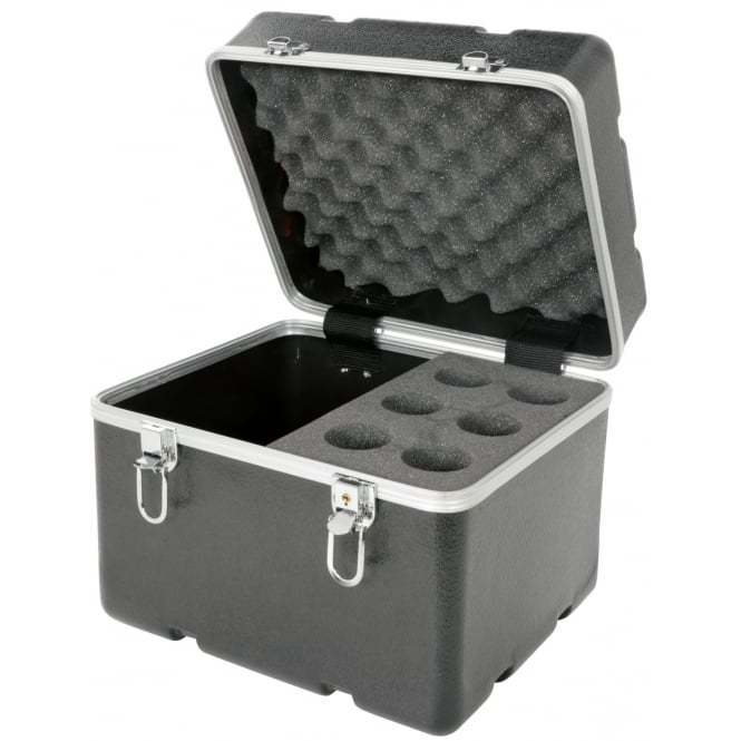 Chord ABS 6 microphone flight case