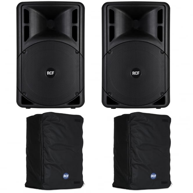 RCF Professional Audio ART 315-A MK III ACTIVE TWO-WAY SPEAKER'S WITH COVERS Bundle