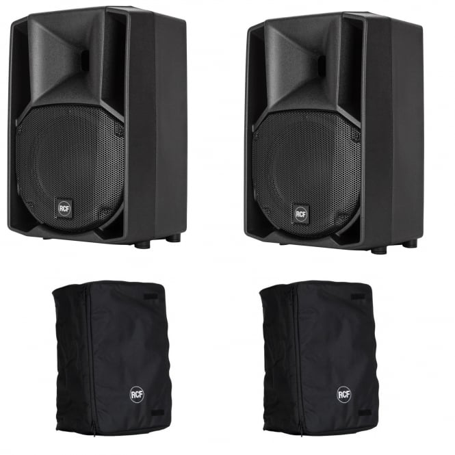 RCF Professional Audio ART 710-A MK4 ACTIVE TWO-WAY SPEAKER PAIR With Covers Bundle