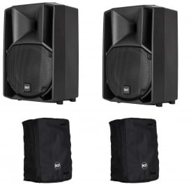 ART 710-A MK4 ACTIVE TWO-WAY SPEAKER PAIR With Covers Bundle