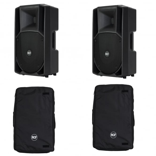 RCF Professional Audio ART 712-A MK II ACTIVE TWO-WAY SPEAKER'S with COVERS Bundle