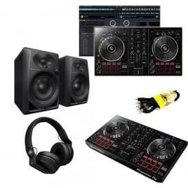 Beginner Bundle DDJ-RB DJ with DM-40 Monitors and HDJ-700 HEADPHONES