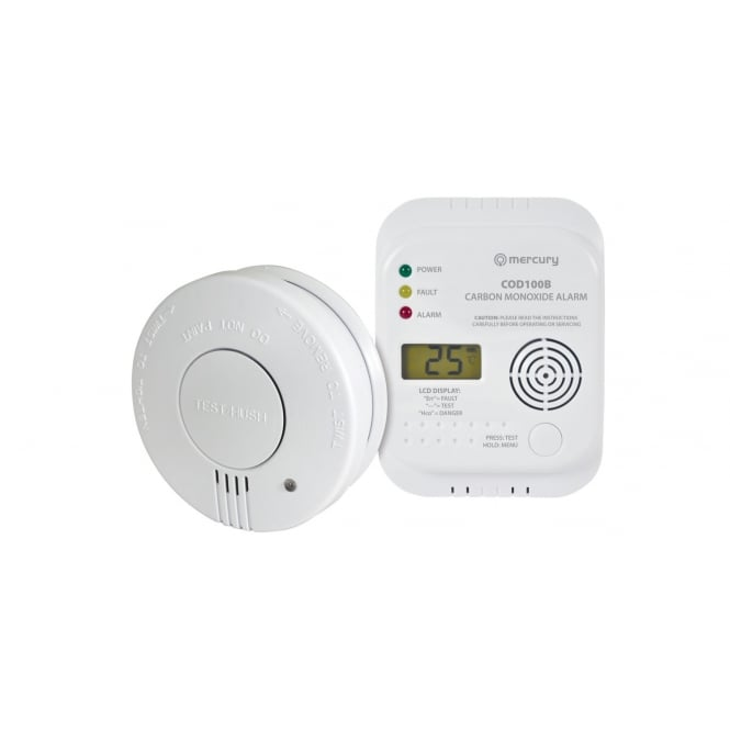 Mercury Carbon Monoxide & Smoke Alarm Set