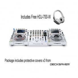 CDJ-2000 NXS2 & DJM-900 NXS2 White Limited Edition Package with FREE DECKSAVERS & HEADPHONES
