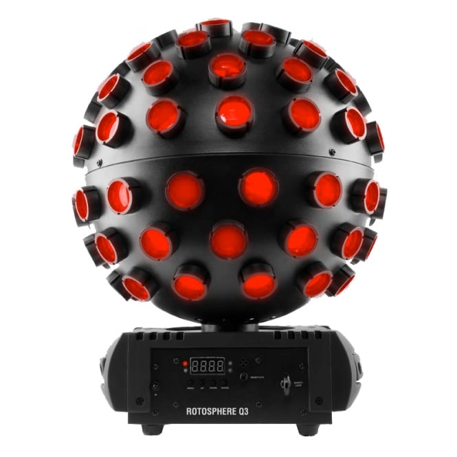 Chauvet Rotosphere Q3 Mirror ball simulator with quad-color LEDs