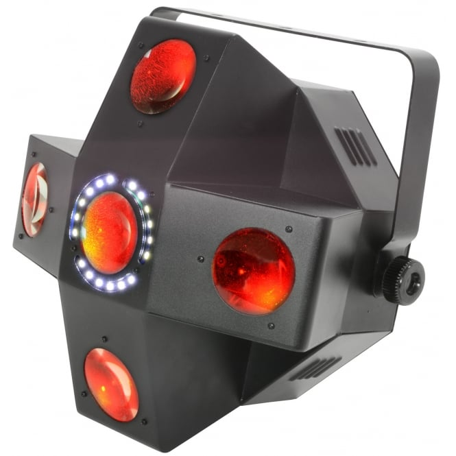 QTX Collider - 5 Lens LED Moonflower with Strobe