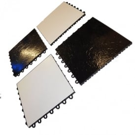 Dance deck pack of 4 tiles black and white