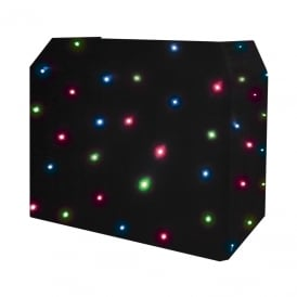 DJ Booth Quad LED Starcloth System, Black Cloth