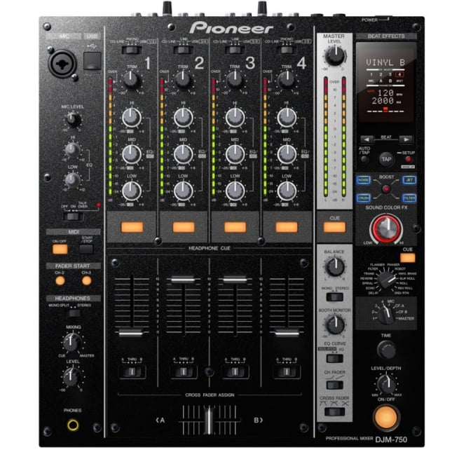 Pioneer DJ DJM-750K 4-Channel Digital DJ Mixer, black
