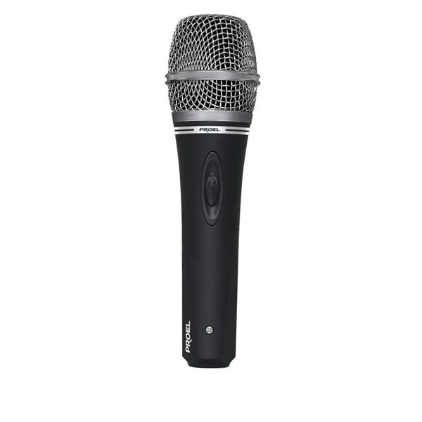 proel dm220 dynamic microphone with switch. Black Bedroom Furniture Sets. Home Design Ideas