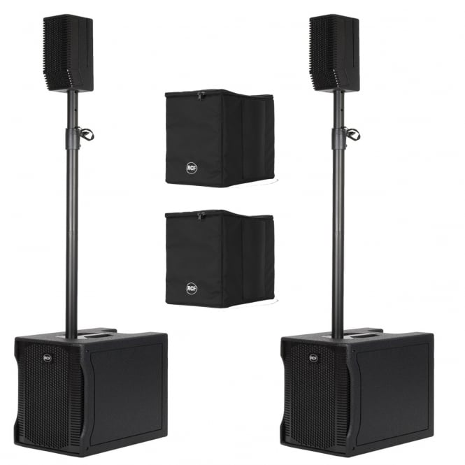 RCF Professional Audio EVOX 5 ACTIVE TWO-WAY ARRAY PAIR WITH COVERS Bundle