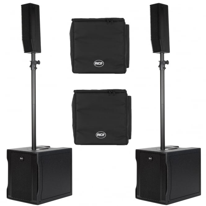 RCF Professional Audio EVOX 8 ACTIVE TWO-WAY ARRAY PAIR WITH COVERS Bundle