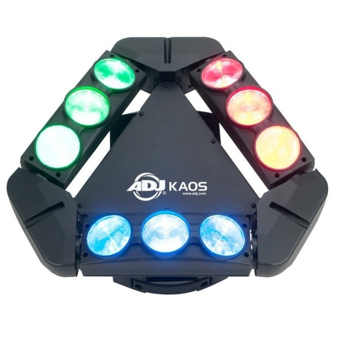 American DJ EX DEMO! Kaos 9 x 10-Watt bright, Sweeping RGBW CREE LEDs