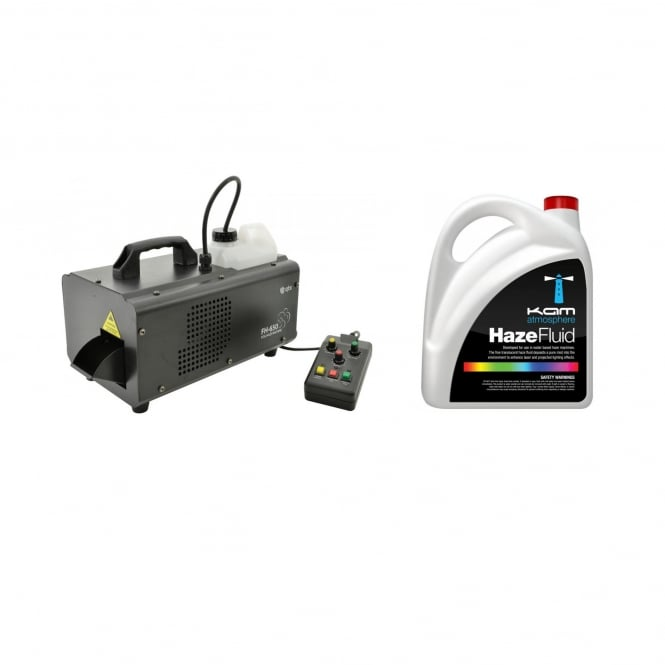 QTX FH-650 COMPACT FOG-HAZE MACHINE & FLUID Bundle