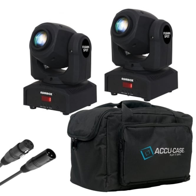Equinox Fusion Spot MKII dmx LED moving head , bag and dmx cable Bundle