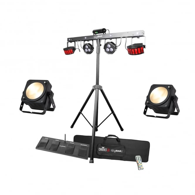 Chauvet GigBar 2 4-in-1 includes UV Lighting System @ Warm White Stage lighting Bundle