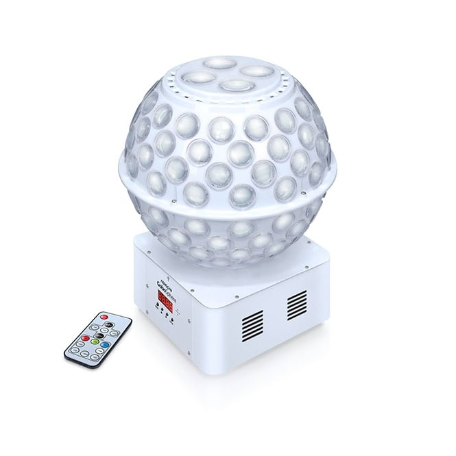 NovoPro GoboSphere rotating LED sphere that creates beams of light plus moving gobos