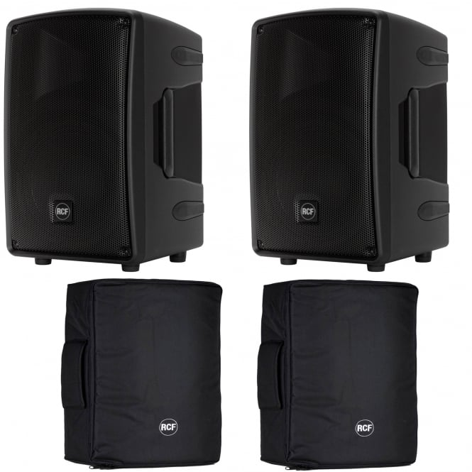 RCF Professional Audio HD 10-A MK4 ACTIVE TWO-WAY MONITOR PAIR WITH COVERS Bundle