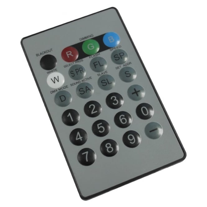 LEDJ I.R. Remote ForQuad Colour Fixtures
