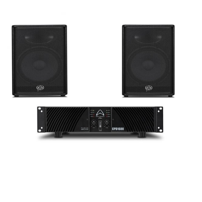 Wharfedale Pro Impact 15 & CPD 1600 Amplifer Bundle