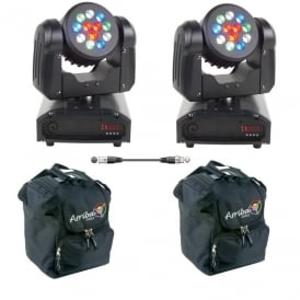 Inno Color Beam 12 LED moving head Bundle