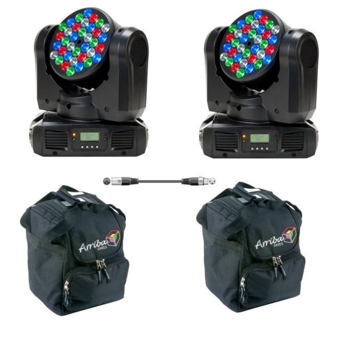 American DJ Inno Color Beam Led Moving Head Bundle