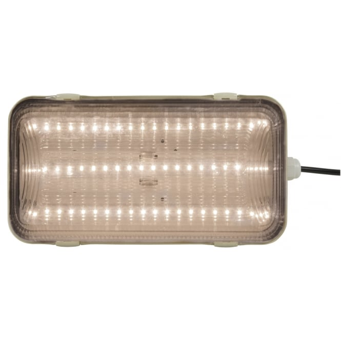 Fluxia IP65 bulkhead LED light 16W 4200K clear cover