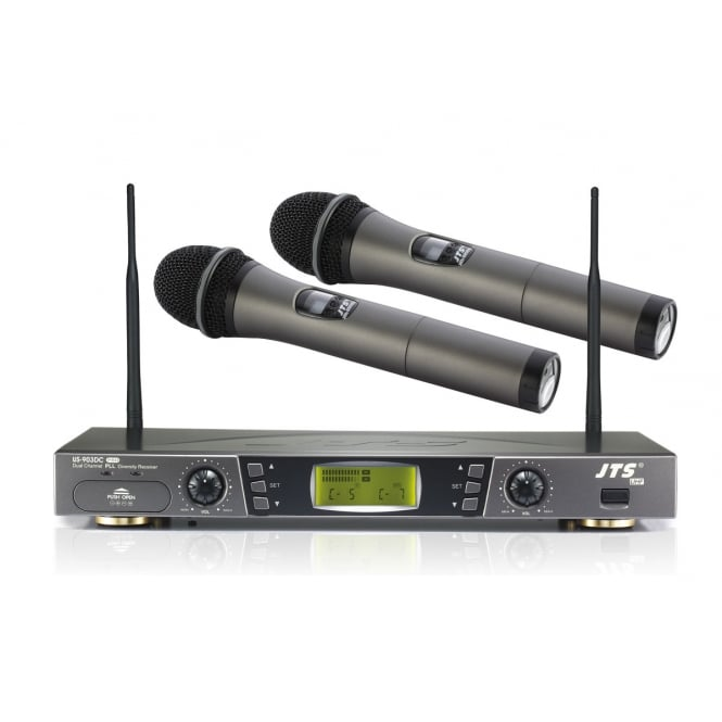 JTS US-903DC Pro (Twin Handheld) Receiver and Hand Held Microphone