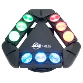 Kaos 9 x 10-Watt bright, Sweeping RGBW CREE LEDs