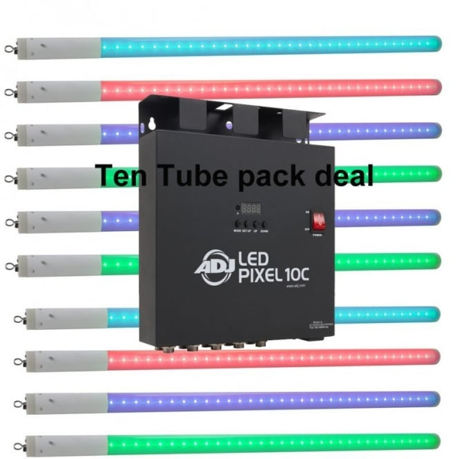 American DJ LED Pixel Tube 360 and LED Pixel 10C controller Bundle