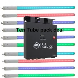 LED Pixel Tube 360 and LED Pixel 10C controller Bundle