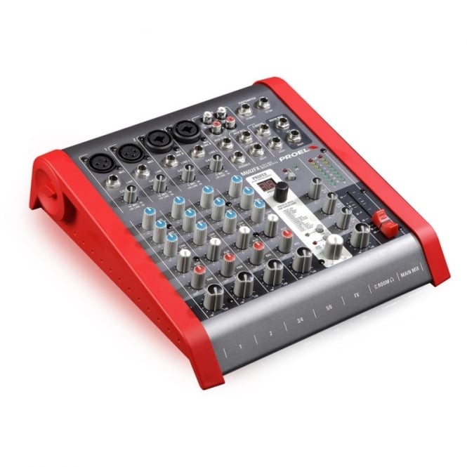 Proel M602FX 6 Channel compact mixing desk with fx and carry bag