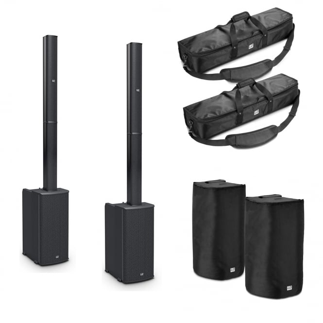 LD Systems MAUI 11 G2 PORTABLE COLUMN PA SYSTEM WITH MIXER AND BLUETOOTH @ BAGS Bundle