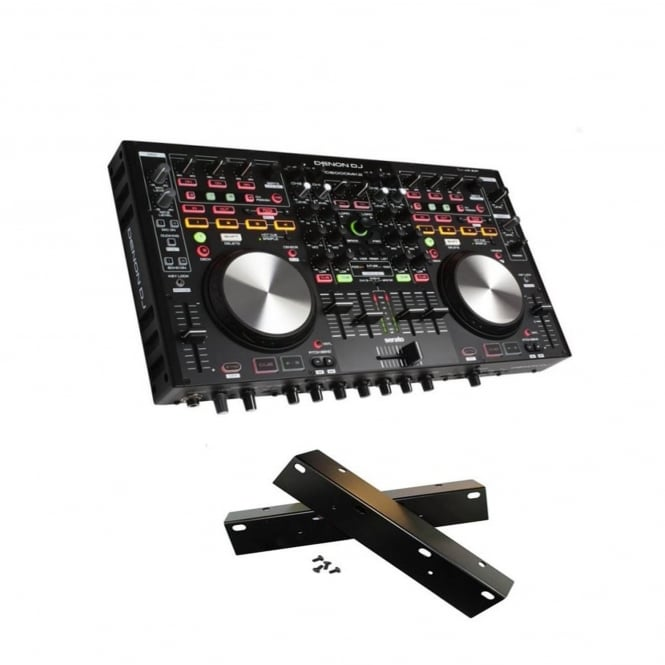 Denon MC6000 mk2 Professional Digital Mixer Controller with rack wings Bundle