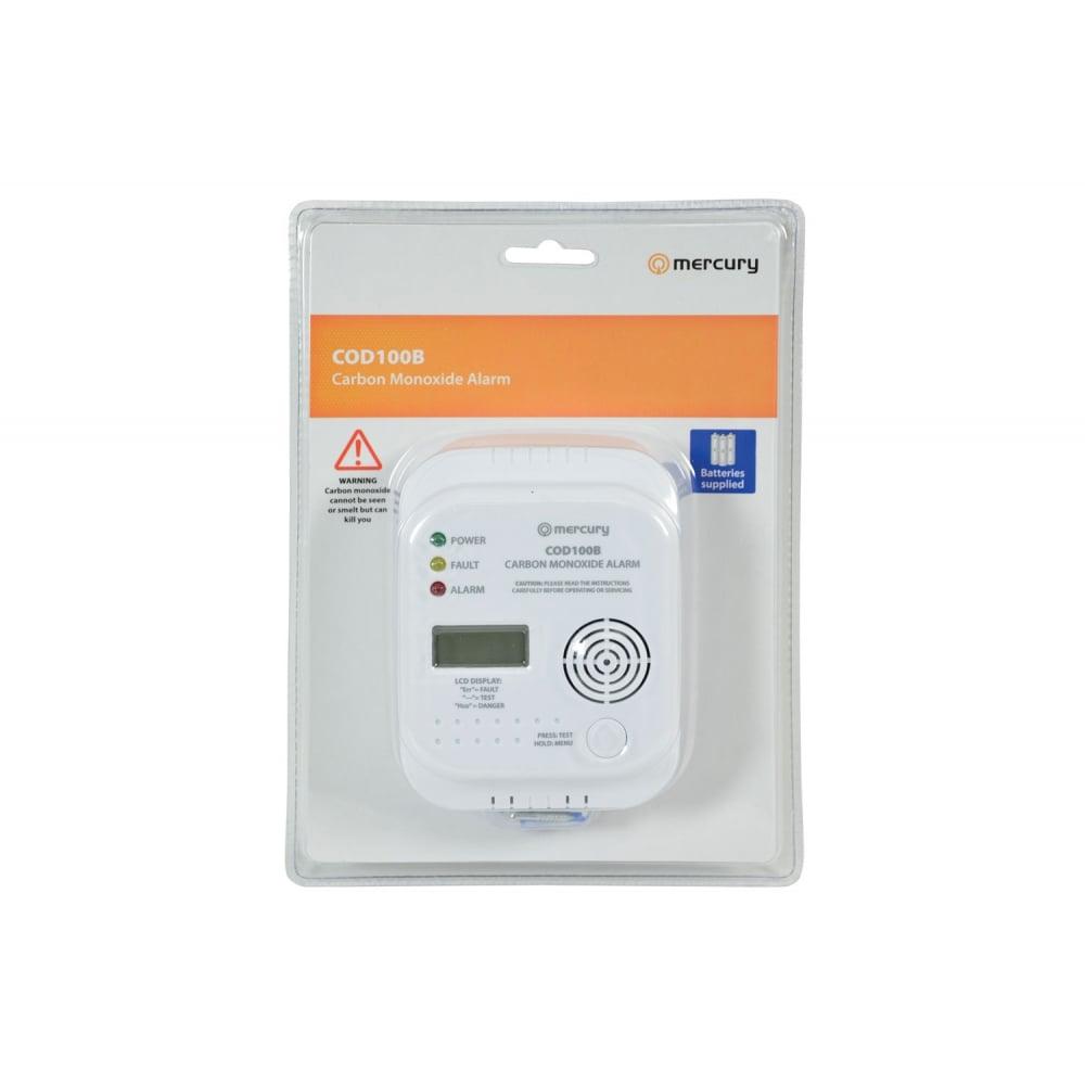 Mercury 350.135 COD100B Carbon Monoxide Monitor And Alarm LED Status Indicators