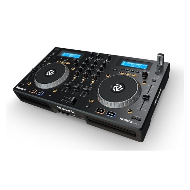Numark Mixdeck Express Premium DJ Controller with CD and USB Playback Dual-Tray CD/MP3 Player with USB Thumbdrive Capability