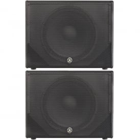MX15A – 15 1200W ACTIVE POWERED SUBWOOFER BASS BIN - PAIR Bundle