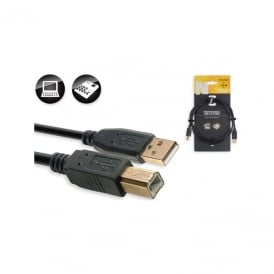 N-Series USB 2.0 Cable - A-male to B-male - gold 1.5m