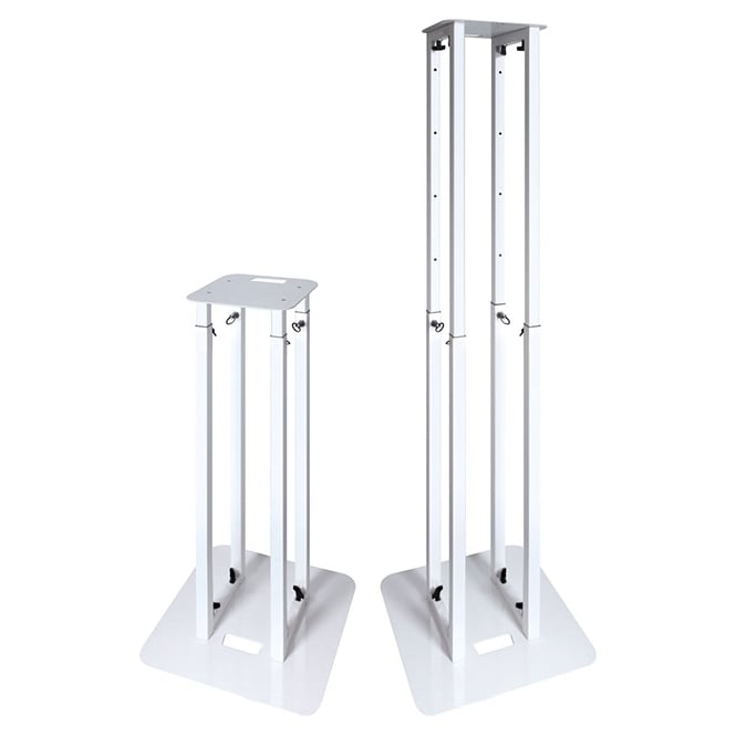 NovoPro PS1XL Moving Head / Podium Stand PS1XL Unique and innovative, variable height podium stands in white with 2 different scrims (priced single)