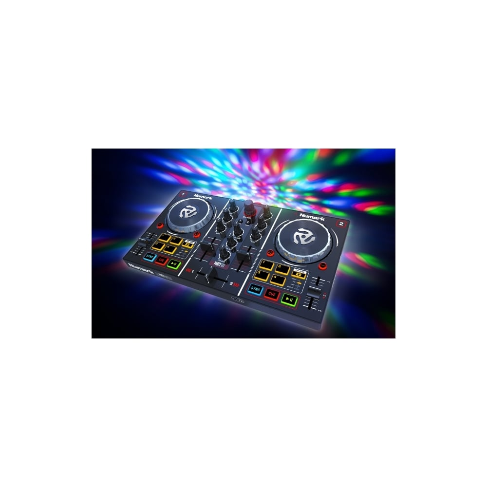 Party Mix DJ Controller with Built In Light Show now including Serato DJ  LITE